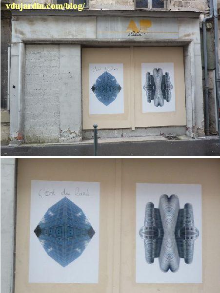Art graphique rue Carnot à Poitiers, avril 2014, 2e édition du festival Fars
