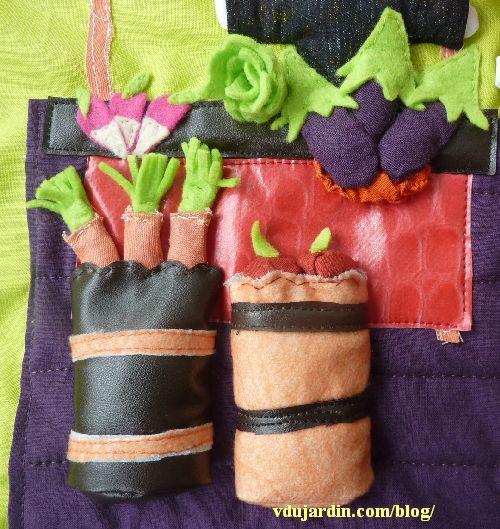 Haricot magique, la page 3, détail des tonneaux et des légumes