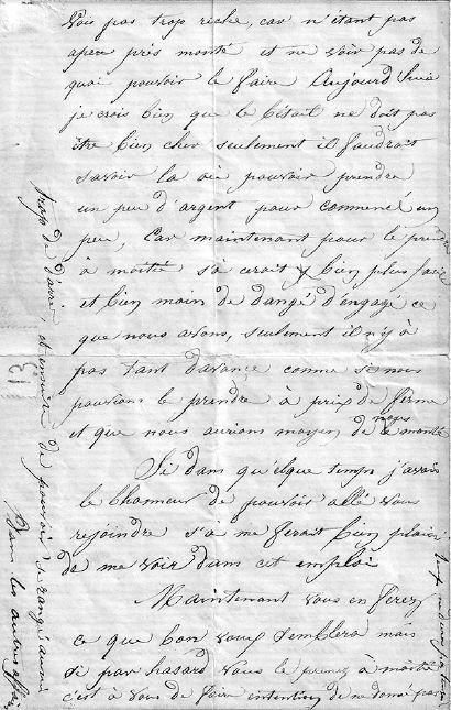 Lettre de Louis Poplineau, 1871, page 2