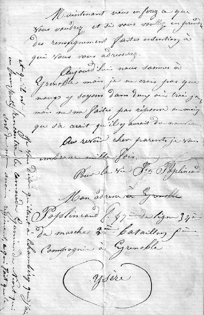 Lettre de Louis Poplineau, 1871, page 3