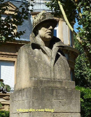 Metz, le monument à Albert Ier par Paul Niclausse, le buste