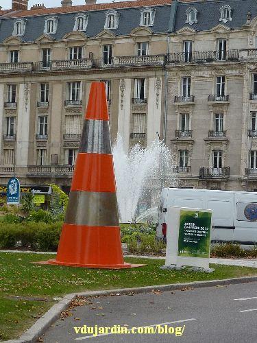 Metz, cône du jardin en chantier, août 2012