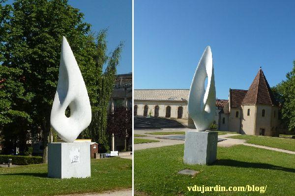 Deux vues de La sentinaile d'Antoine Poncet à Metz