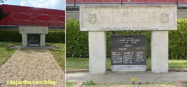 Monument commémoratif du stade poitevin à Poitiers