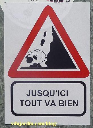 Mouton à Poitiers, chute de pierre