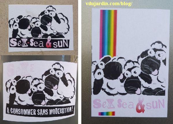 See, sex and sun, trois séries de moutons à Poitiers