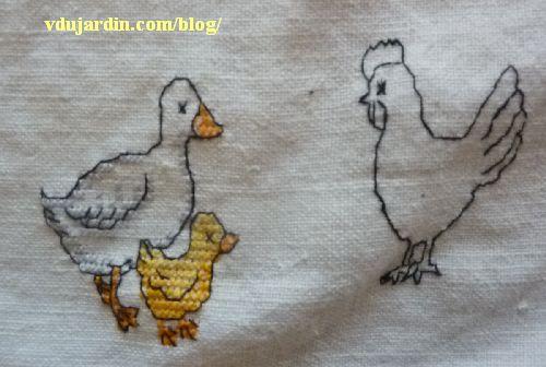 Nans 2014, étape 24, oie, poule et poussin
