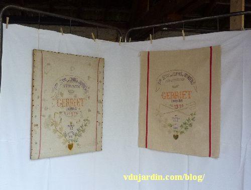 Le torchon d'Irénée Gerriet, original et réplique par Mady