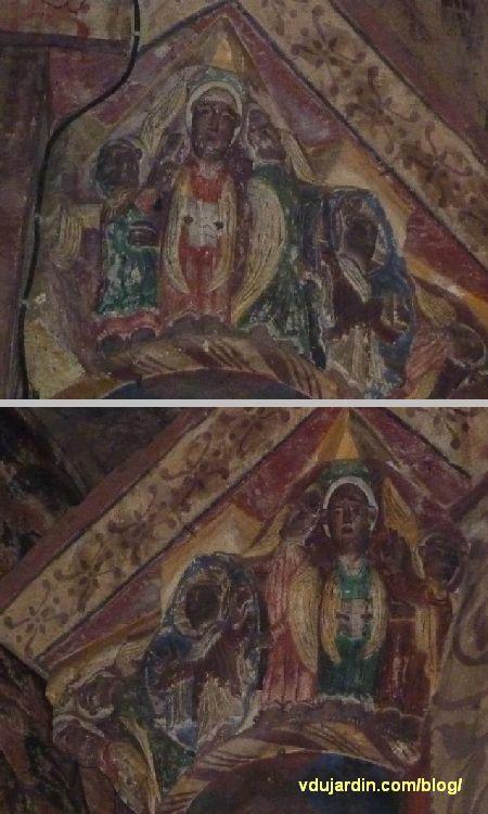 Poitiers, Notre-Dame-la-Grande, Ascension du Christ, les deux petites faces