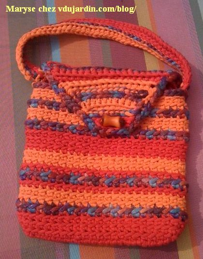 Sac au crochet de Maryse, vue d'ensemble
