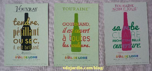 Véro bis en mai 2014, cartes à publicité du Val de Loire