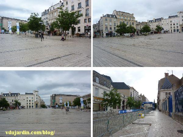 Poitiers, championnat de France de cyclisme sur route, 28 juin 2014, 10h30, place vide