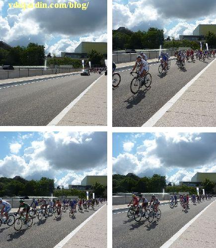 Poitiers, championnat de France de cyclisme sur route, 29 juin 2014 sur le viaduc des rocs, quatre vues