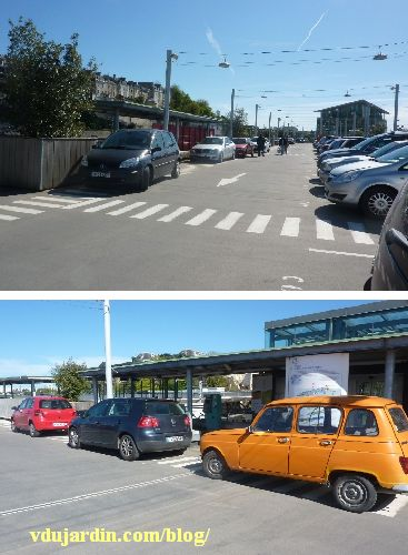 Stationnement anarchique sur le parking Toumaï à Poitiers, avril 2014