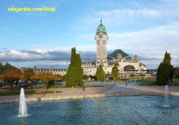La gare de Limoges, vue du parc voisin