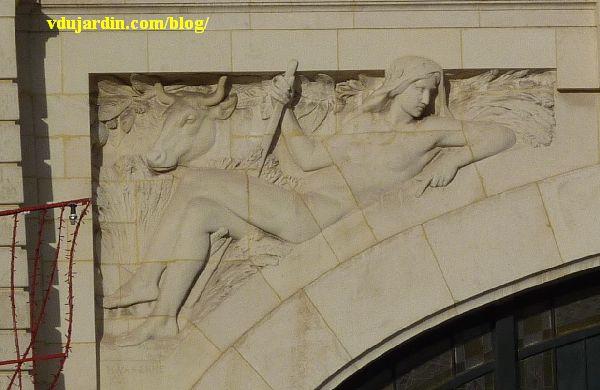 La gare de Limoges, allégorie de Cérès par Varenne