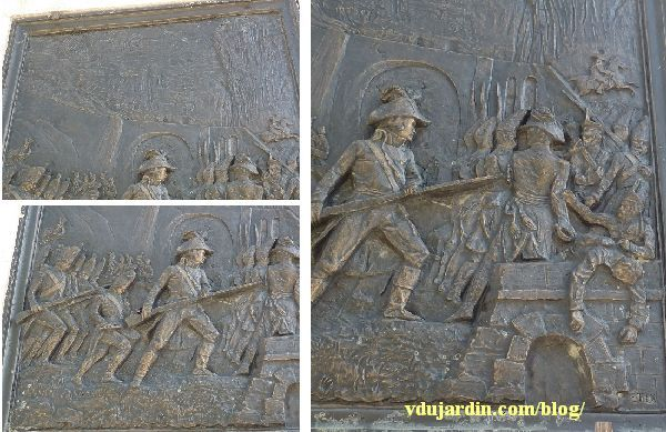 Le général Lecourbe par Antoine Étex à Lons-le-Saunier, relief de la bataille du pont de Seefeld