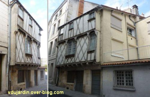 Niort, maison à pan de bois rue du pont, 1, la façade