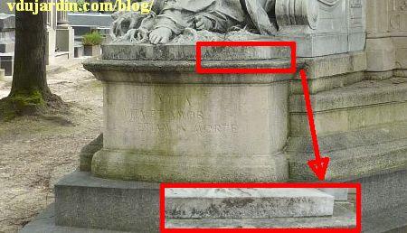 La tombe de la famille Herbette, cimetière du Montparnasse à Paris, inscriptions sur le socle