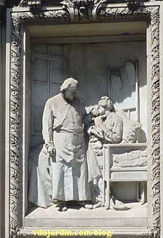 Le monument au docteur Tarnier à Paris, le relief en marbre
