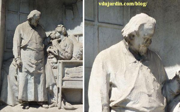 Le monument au docteur Tarnier à Paris, le docteur