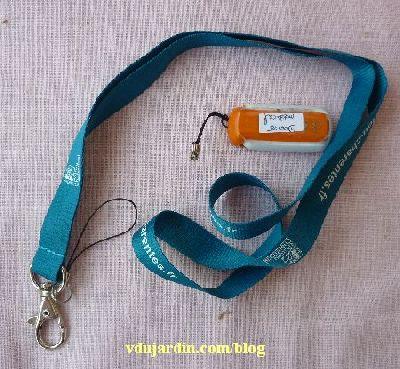 Tour de cou publicitaire et clef USB