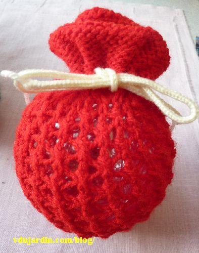 Tricoboule rouge, modèle clémentine