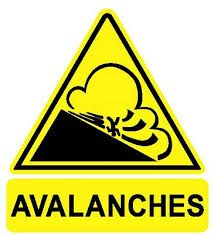 Panneau couloir d'avalanches