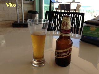 Bouteille de Bohémia, bière mexicaine