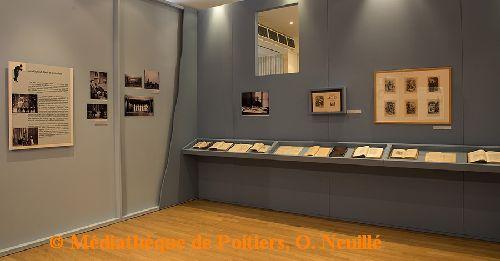 Exposition Jean-Richard Bloch à la médiathèque de Poitiers, aperçu de l'exposition, cliché O. Neuillé