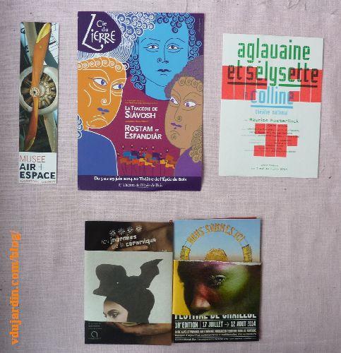 Cartes à publicité envoyées par Capucine O, juillet 2014