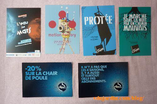 Cartes à publicité envoyées par Capucine O, juin 2014