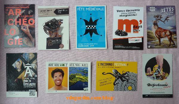 Cartes à publicité envoyées par Capucine O, mai 2014