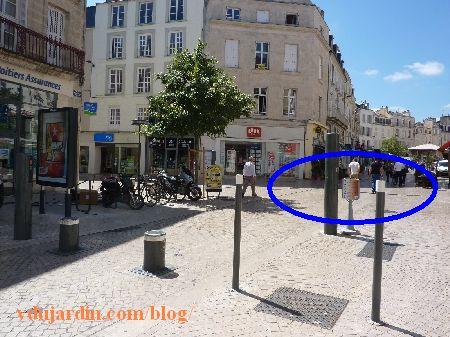 Poitiers, rue Charles-Gide, emplacement du problème final