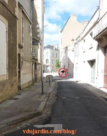 Poitiers, rue Charles-Gide, proposition de panneau supplémentaire rue Renaudot