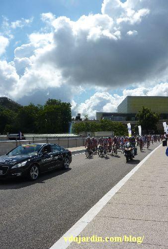 Poitiers, championnat de France de cyclisme sur route, 29 juin 2014 sur le viaduc des rocs