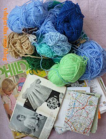 Dalinele, juillet 2014, chutes de laines, modèles au tricot, etc.