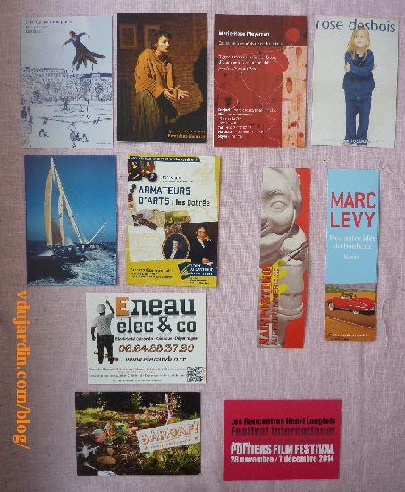 Dalinele, juillet 2014, cartes à publicité et marque-pages