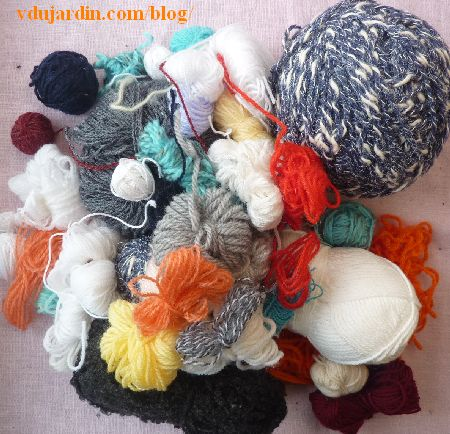 Restes de laine envoyés par Isabelle Marchetti