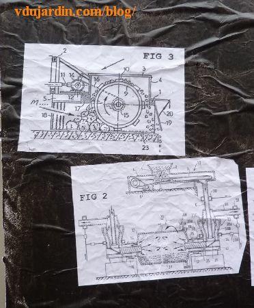 Poitiers, affiche de moutons sur la vitrine de la DRAC, détail gauche