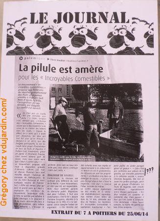 Poitiers, moutons qui s'interrogent sur la position de la ville face aux incroyables comestibles, repéré par Grégory