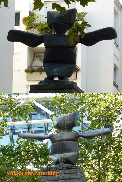 Le Grand assistant de Max Ernst à Paris, vues rapprochées de face et de dos