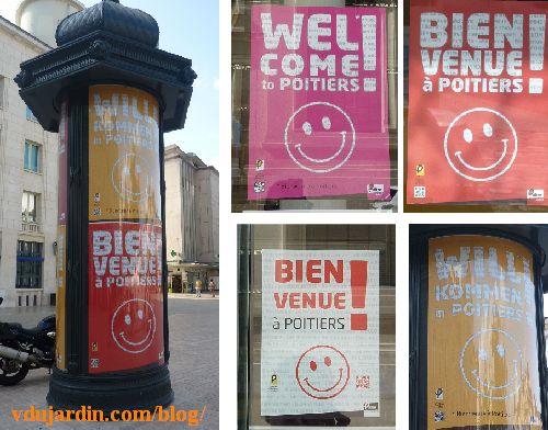 Bienvenue aux touristes à Poitiers, campagne publicitaire