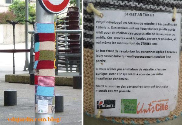 Street art tricoté à Poitiers