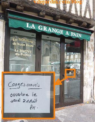 Boulangerie fermée à Poiteirs, été 2014