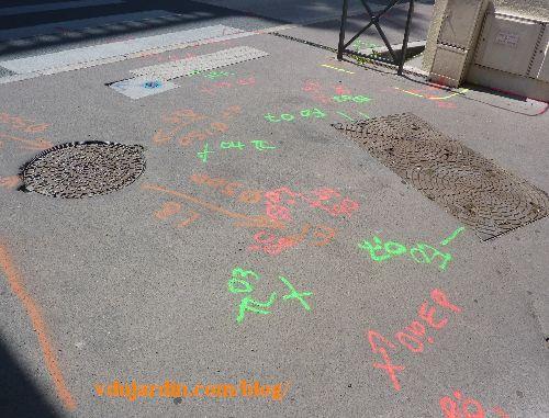 Poitiers, été 2014, campagne de relevés topographiques des réseaux
