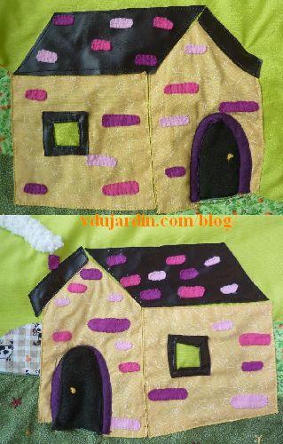 Haricot magique, pages 3 à 6, la maison avec la porte finie, recto et verso