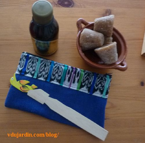 Cadeaux mexicains de Maryse, vanille, cassolette, pilonsillo, trousse et marque-page
