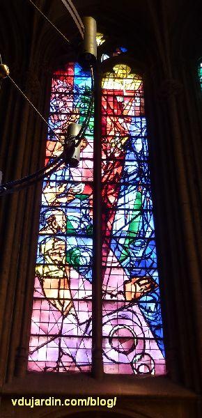 Cathédrale de Metz, vitraux de Jacques Villon, deuxième baie, la Cène