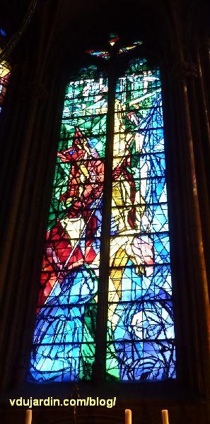 Cathédrale de Metz, vitraux de Jacques Villon, troisième baie